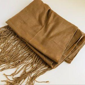 Tan Brown long scarf